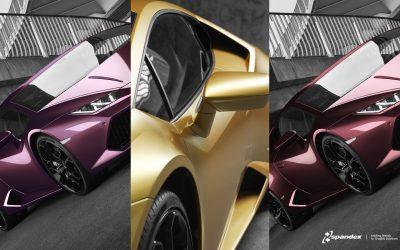 Spandex utökar med tre nya färger i serien Avery Dennison Supreme Wrapping Film (SWF)