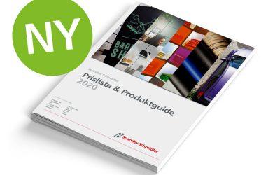 Spandex Schneidlers nya produktkatalog ute nu, både tryckt och digitalt blädderbar