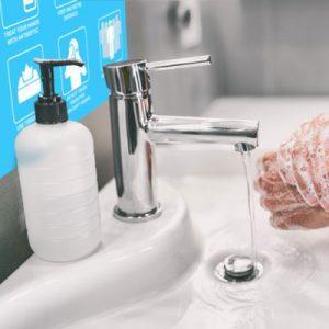 Tillfällig skyltning handtvätt