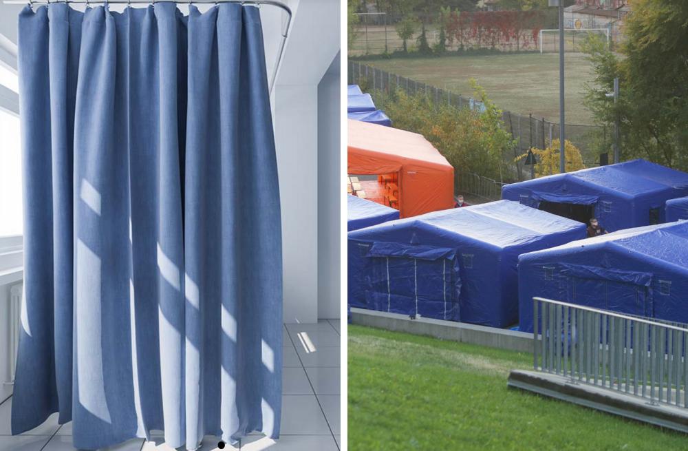 tessuti grande formato per tende e padiglioni ospedalieri