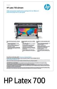 HP Latex 700 Datablad