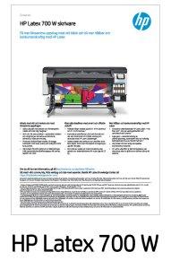 HP Latex 700 W Datablad