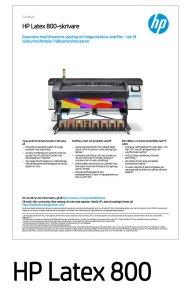 HP Latex 800 Datablad