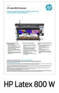 HP Latex 800 W Datablad